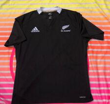 EUC Vintage New Zealand All Blacks Rugby Jersey Shirt Adidas 2XL XL L Football