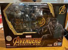 S.H. Figuarts Avengers Infinity War Black Panther & Tamashii Effect Rock