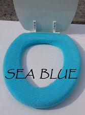 Bathroom Toilet Seat Warmer Cover - Sea Blue - Washable - LifeLong Needs