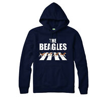 The Beagles Hoodie, Abbey Road Spoof, Funny Partywear Gift Top