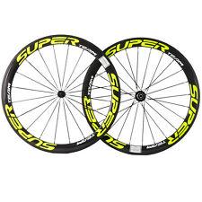 Superteam Carbon Wheels 50-25mm Width Road Bike U shape Bicycle Wheelset R13 Hub