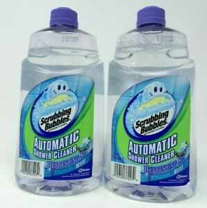 Lot of (2) Scrubbing Bubbles Automatic Shower Cleaner Refreshing Spa Refill.