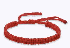 Tibetan Thread Buddhist Knot Amulet Red Rope Lucky Bracelet Charm Jewelry
