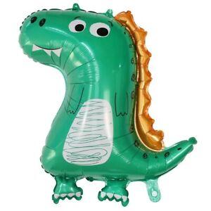 Green Dinosaur T Rex 30''x10'' Helium Happy Birthday Party Balloon x 1