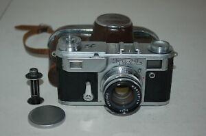 Kiev-IIa (2a) Vintage 1956 Soviet Rangefinder Camera & Case. 569490. UK Sale