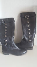"""Arturo Chiang """"Ellie"""" Black Military Style Riding Boots size 6.5"""