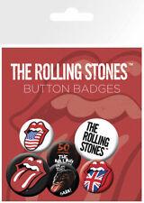 Rolling Stones Pack 6 Rund Anstecknadeln (Ge)