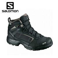 SALOMON Utility Winter CS WP Winterschuhe Wanderschuhe Schwarz Grau 18//19