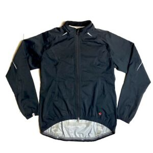 Specialized Mens Black Long Sleeve Cycling Zip Up Jacket Sz: L