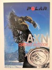Watch catalog / Catalogue de montres POLAR AXN Cardios Outdoor 16 pages 14 x 21