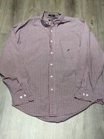 Nautica Mens Large Pocket Button Down Collared Long Sleeve Shirt