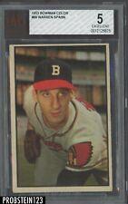 1953 Bowman Color #99 Warren Spahn Boston Braves HOF BVG 5 EX