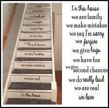 Stair riser stickers in black matt cut vinyl. 55x10cm(22x4inch)