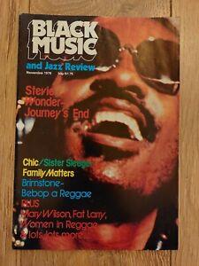BLACK MUSIC & JAZZ REVIEW ~ NOVEMBER 1979 STEVIE WONDER CHIC SISTER SLEDGE
