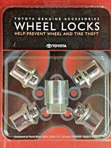 Toyota Alloy Wheel Lock Set 00276-00900 Genuine Toyota Accessory ( short ones )
