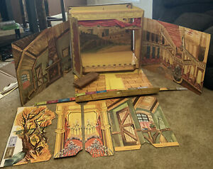 Barbie and Ken Little Theatre with Backdrops, Scenery and Tickets. Vintage