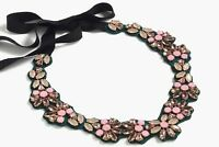 JCREW COLORFUL FABRIC BACKED BIB NECKLACE---NEW WITH TAG--SRP $118