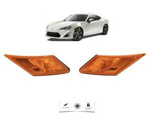 For 2014 2017 Scion FRS Subaru BRZ Toyota 86 JDM Orange Front Bumper Side Light