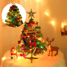 More details for 50cm tabletop christmas tree desk xmas tree party ornament decorated celebration
