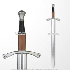 "40"" Medieval Hand and a Half Foam Arming Sword Metallic Blade Cosplay LARP"