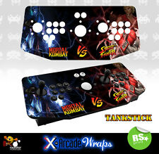 Mortal Kombat Street Fighter X Arcade Artwork Tankstick Overlay Graphic Sticker