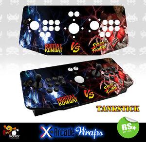 Mortal Kombat Street Fighter X Arcade Artwork Tankstick Overlay Graphic Sticker