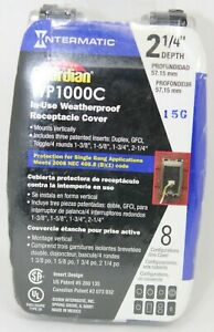 Intermatic WP1000C Guardian Series 1Gang Weatherproof OUTDOOR PLUG COVER    #D28
