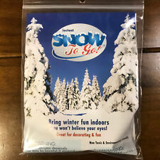2 Packs Artificial Instant Snow To Go  Holiday Winter Christmas Add Water 40g Ea