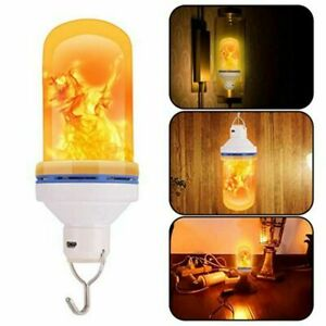 LED Flame-Effect Simulated Nature Fire Light Bulb Night Lamp USB Rechargeable