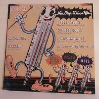 33T NON STOP DISCO HITS Vol 2 Vinyle LP GREEN BEETHOVEN PERFORMANCE CONSTRUCTION