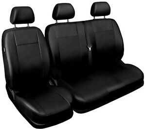 Van seat covers fit Vauxhall Vivaro 2001 - 2014  black  ECO LEATHER
