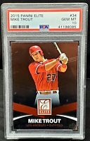 2015 Panini Elite Early Years Angels MIKE TROUT Card PSA 10 GEM MINT Low Pop 14