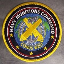 Embroidered Military Patch U S Navy Munitions Comand CONUS WEST NEW
