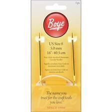 """Boye Circular Aluminum Knitting Needles 16"""" - 070486"""