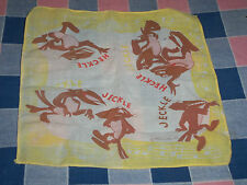 """Vintage Children's Hanky Handkerchief Terrytoons Heckle Jeckle  About 8 x 8"""""""