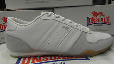 Lonsdale Clark Poplar Mens Trainers UK 12 112070 White Leather Shoes UK 9