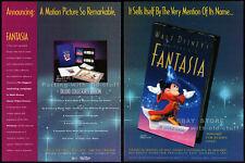 FANTASIA__Original 1991 Trade print AD movie promo__WALT DISNEY__Mickey Mouse