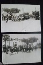 A900 Deux photographie militaire musique cavalerie Algérie Photo Moris Oran