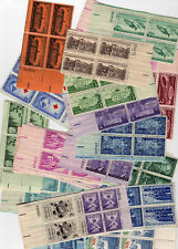 25 DIFFERENT  3 CENT PLATE BLOCKS OF 4 MNH