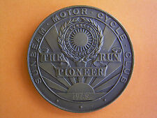 Sunbeam Motor Cycle Club - The Pioneer Run - Participants Medal 1969