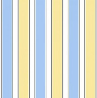 Susybee Stripes Blue White Yellow Premium 100% cotton fabric by the yard