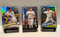 KESTON HIURA PRISM REFEACTOR ROOKIE CUP LOT 2020 TOPPS CHROME BREWERS 🔥📈