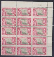Southern Rhodesia, KGVI 1937 Coronation SG 36-39 MNH large blocks, Lot 7146
