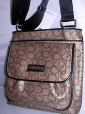 NEW CALVIN KLEIN LADIES CROSS BODY BAG COLOR AQK ANTQ BRNZ/BLK H2JEJ106 .