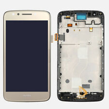 For Motorola Moto E4 XT1765 XT1766 LCD + Touch Screen Digitizer Gold with Frame