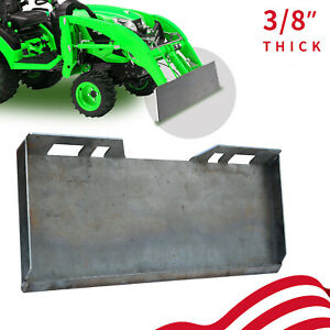 """3/8"""" Quick Tach Attachment Mount Plate Skid Steer Hitch Steel Front Loader Plate"""