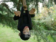 Climbing Upside Down Monkey Garden Ornament, Monkey Hanging Tree Statue