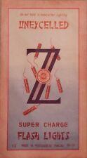 Large Vintage Unexcelled Firecracker Brick Label