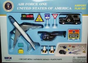 Daron Airport Playset RT 5731 Air Force One Die Cast & Plastic Parts 12 Pcs