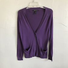 Bcbg MaxAzria Silk Purple Cardigan Size Medium F14